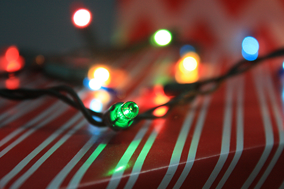 evitar riesgos luces de navidad